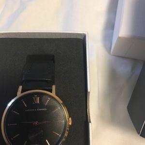 Larsson & Jennings Leather Strap Watch, 38 mm